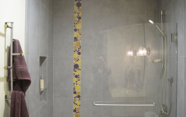 Modern Bath – Gray & Yellow
