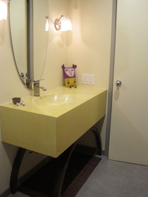 berkeley interior design. Modern Bath \u2013 Gray \u0026 Yellow Berkeley Interior Design