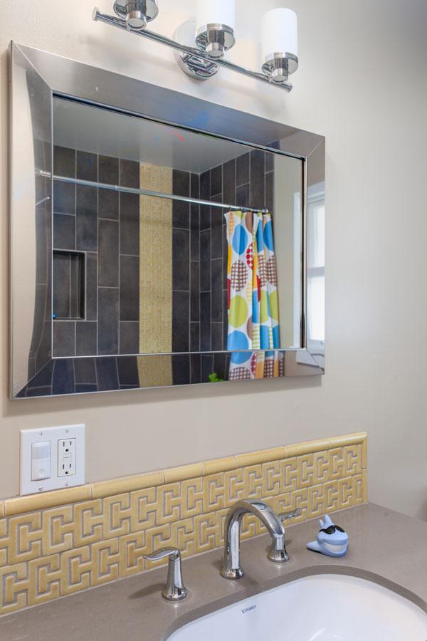 07 Mid Century Design Guest Bathroom Mirror Cantu Mid Century Bathroom Interior Design