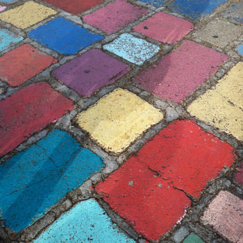 color chalk walkway balboa park san francisco interior design