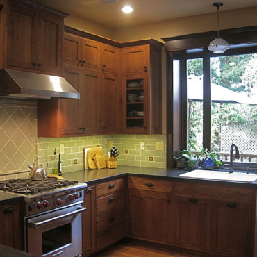 Earthy Craftsman Kitchen & Bath