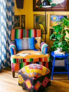 DIY interior design eclectic color bright 500x667